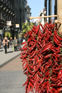 The famous Budapest 'paprika' - or chillies to me.